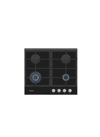 Simfer Simfer 3525 Düğmeden Dokunmatik Ateşleme Sistemili Wok Gözlü Cam Ankastre Ocak Renkli